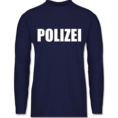 Shirtracer Karneval & Fasching - Polizei Karneval Kostüm - XXL - Navy Blau - BCTU005 - Herren Langarmshirt