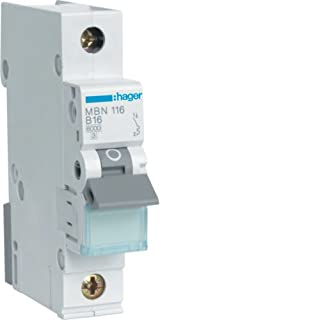 Hager Automatic fuses Line circuit breaker B16 A