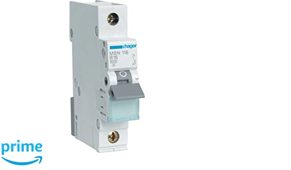 Hager Automatic fuses Line circuit breaker B16 A: Amazon.co ... on
