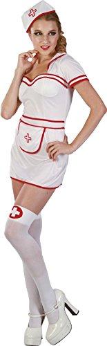P' tit Clown 83574–Costume adulto lusso infermiera sexy–bianco