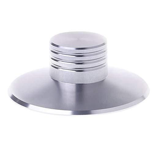 Mucjun LP Vinyl Schallb Platten Maschine Balance Metall Disc Stabilisator Gewicht Clip Platten Spieler High Fidelity (Silber) - High-fidelity Plattenspieler