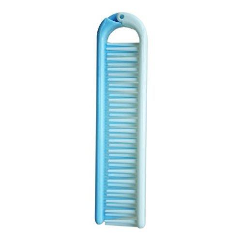 Leisial Brosse à Cheveux Pliante Démêlante en Plastique Peigne à Cheveux Pliable Portable pour Vayage(Bleu)