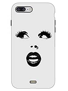 iPhone 7 Case - Lady Has Beautiful Eyes - Face Outline - Designer Printed Hard Shell Case
