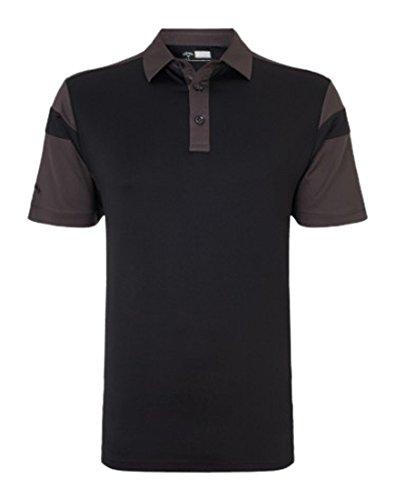 Callaway Chev Blocked Herren-Poloshirt schwarz
