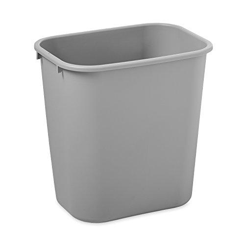 rubbermaid-commercial-products-fg295600gray-corbeille-plastique-deskside-gris