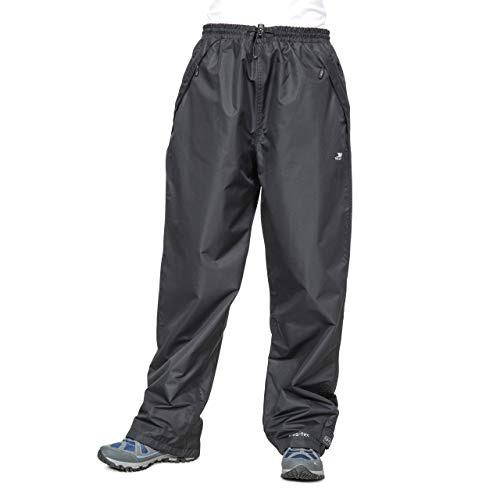 The Trespass Women's Tutula Waterproof Trousers are made entirely out of 100% polyester and they are highly waterproof. The pair of trousers feature an inner polyester lining that helps with air circulation to keep your skin cool. These trousers only come in black and they are highly breathable therefore you can wear them over your jeans.