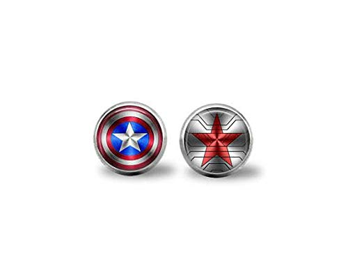 bab Captain America & Winter Soldier Logo Ohrringe