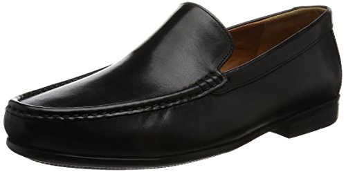 Clarks Claude Plain, Mocassini Uomo, Nero (Black Leather -), 46 EU