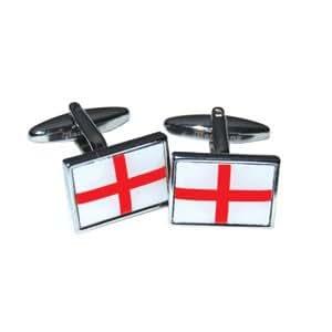 St George Flag Cufflinks in Presentation Box
