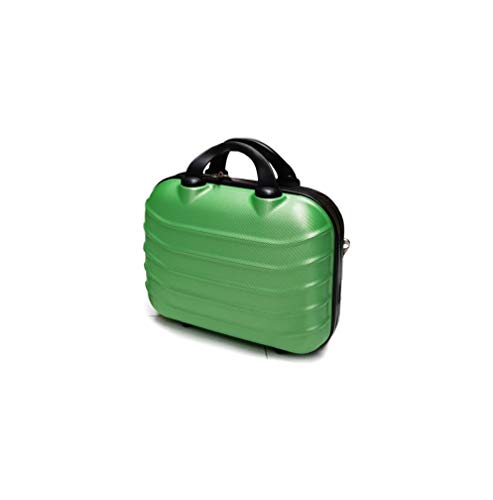 SLmilano Valigia Fino a Set 3 Trolley Rigido grande, medio e bagaglio a mano 4 ruote in ABS 2090 (verde, BEAUTY)