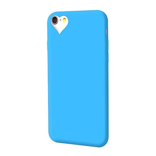 iProtect TPU Schutzhülle Apple iPhone 6, 6s Soft Case in matt Rosa love blau