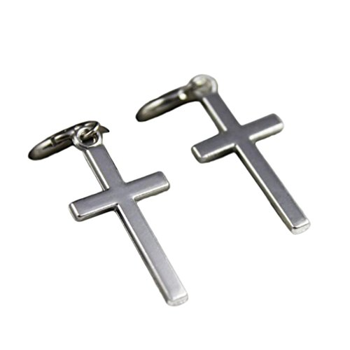 Damen Ohrringe Schmuck Ohrstecker stecker DAY.LIN 1 Paar Mode Stahl Kreuz Tragus Oberen Ohrknorpel Ohrring Piercing (B) (Kristall-kreuz-umhängetasche Handtasche)
