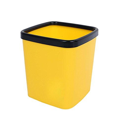 WangYangDaHai Dekorationen Schmuck Desktop Mülleimer Mini Büro Wohnzimmer Familie Autos Tabelle ohne Deckel Square Kunststoff kleine Eintritt und Korb, 18,5 * 16,5 * 20 cm, C (Teal Decor Tabelle)