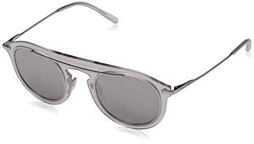 Dolce & Gabbana Herren 0DG2169 05/6G 48 Sonnenbrille, Weiß (Clear/Greymirrorsilver)