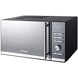 Candy CMGE23BS Micro-ondes avec grill, 23 litres, Noir inoxydable