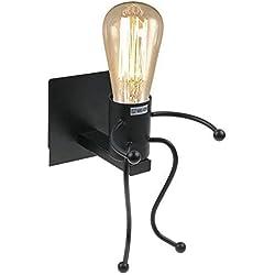 Lámpara de pared,Retro light Creative E27 Iron Art Art Deco para sala de estar, dormitorio