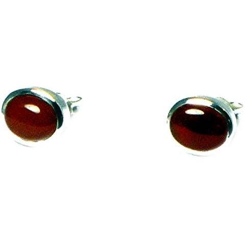 corniola–Orecchini a perno in argento Sterling 925, ovale (cst0206153)
