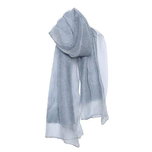 Ainiyf sciarpe di tela di cotone tinta unita delle donne/primavera autunno sciarpa di seta sottile/involucro dello scialle / 74x33.07 pollici (colore : blu)