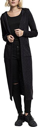 Urban Classics Damen Strickjacke Ladies Space Dye Hooded Cardigan, Mehrfarbig (Black/White 50), Medium