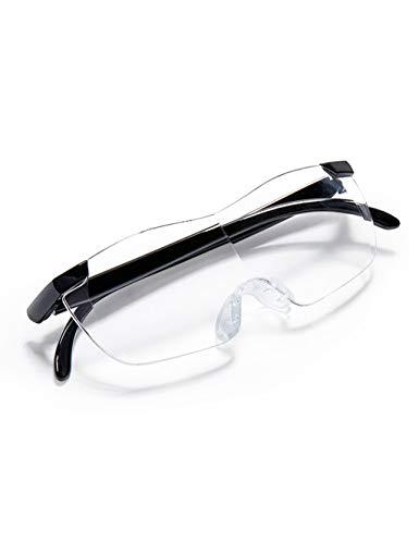 WSGZH Vergrößerungsglas mit Brille, 1,8-fache Vergrößerungslupe, für ältere Menschen geeignet, Schmucklupe, Uhr, Elektronische Reparatur, Nähen, Schwarz/Rot/Lila (Color : Purple)
