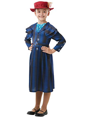 Rubie' s 640649L ufficiale Disney Mary Poppins Returns Movie costume, Childs Book week character-girls taglia Large età 7 - 8 anni, Multicolore