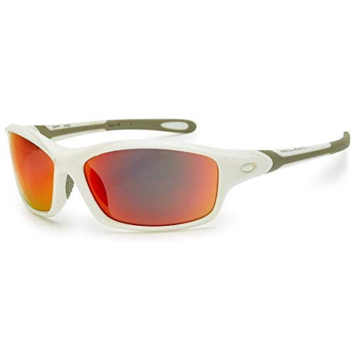 Bloc Daytona XRW60 Sunglasses - Shiny White / Red Mirror