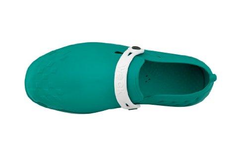 Nexo - Chaussures professionnelles WOCK - Antidérapante ; Talon fermé ; Stérilisable ; Amortissement des chocs ; Aérée Blanc/Vert
