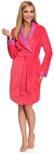 Merry Style Damen Bademantel 13004 Coral/Violett