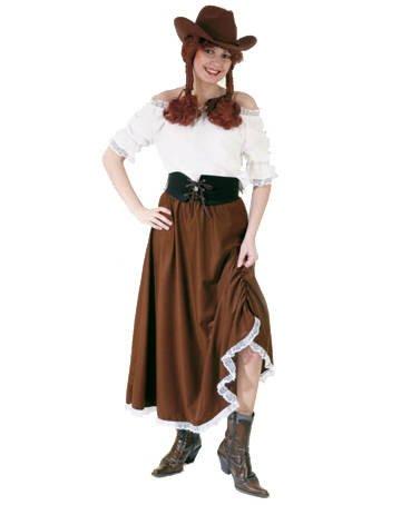 PARTY DISCOUNT Damen-Bluse Western mit Spitze, weiß, Gr. 40-42 (Western Und Country Party Kostüm)