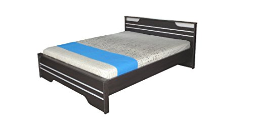 Zuari Neo Queen size bed (IMP Teak/Silver Grey)  available at amazon for Rs.15500