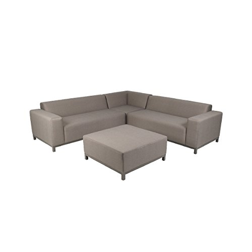 greemotion Lounge Set Aluminium Dallas für Outdoor & Indoor - Alu Loungemöbel Garnitur 3 teilig...