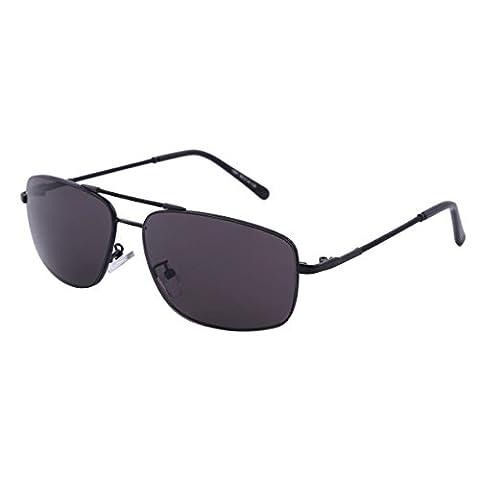 Damara Herren Aviator Kleine Gläser Pilotenbrillen ohne Dioptrie,Schwarz Rahmen/Schwarz Linse