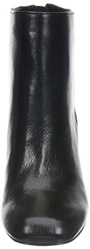 Nine West Genevieve Rund Leder Mode-Stiefeletten Black 2