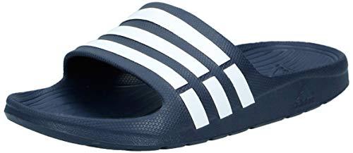 Adidas Duramo Slide Chanclas Unisex, Azul New Navy/White/New Navy, 39 EU 6 UK