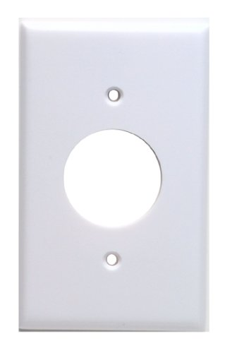 Leviton 88004 1-Gang Single 1.406-Inch Hole Device Receptacle Wallplate, Standard Size, Thermoset, Device Mount, White by Leviton - Leviton 1 Gang Single