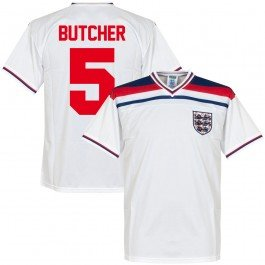 1982 England Home Retro Trikot + Butcher 5 - S