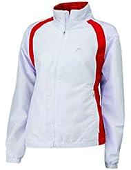 Head - Maglia da tennis da donna Club, Bianco (bianco/rosso), S