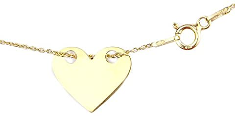 Ah! Jewellery Celebrity Layered Style Heart Necklace 24K Gold Over Sterling Silver. Extra Fine Jewellery. 1.5cm Pendant / 45cm Chain. Stamped 925. 10 Year Guarantee.