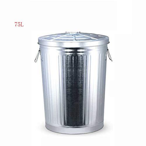 Cubos de Basura para Exterior Caja de almacenamiento al aire libre galvanizada...