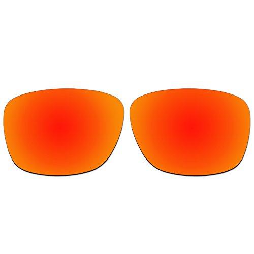 ACOMPATIBLE Ersatz-Objektive für Oakley Vorhand Sonnenbrille OO9179, Fire Red Mirror - Polarized