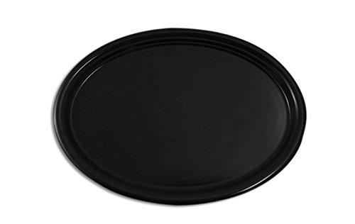 Serviertablett oval rutschfest - 2 Stück (Schwarz)