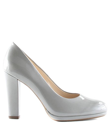 Peter Kaiser Naomi Platform High Heel Court Shoe Grey Patent