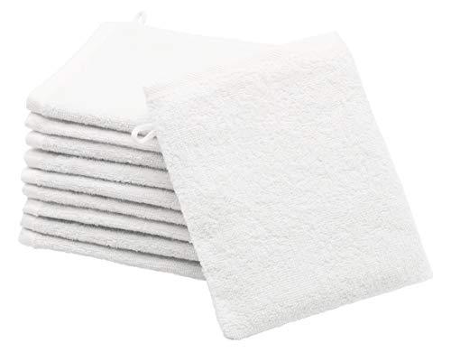 Zollner 10 manoplas de baño de algodón