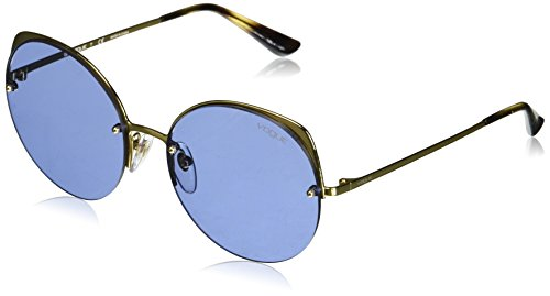 Vogue Eyewear Damen 0VO4081S 280/76 55 Sonnenbrille, (Gold/Dark Violet)