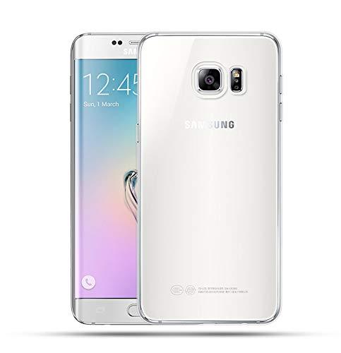 NEW'C Coque pour Samsung Galaxy S6 Edge Plus, [ Ultra Transparente Silicone en Gel TPU Souple ] Coque de Protection avec Absorption de Choc et Anti-Scratch