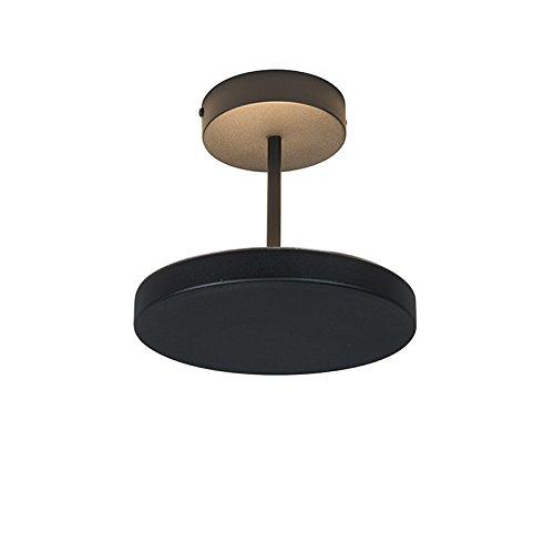 euchte / Deckenlampe / Lampe / Leuchte Disco schwarz / Innenbeleuchtung / Wohnzimmer / Schlafzimmer / Küche Glas / Metall / Rund inklusive LED (nicht austauschbare) LED Max. 1 x 20 (Disco Deckenleuchte)