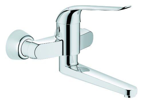 GROHE Euroeco Waschtisch-Einhebelmischer für Wandmontage, 170 mm, verchromt 32773000
