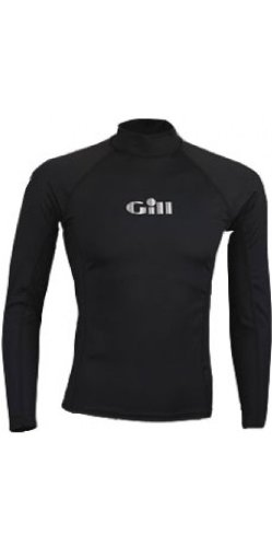 Gill Mens Respect The Elements Long Sleeved Rash Vest in BLACK 4400 Sizes- - ExtraLarge