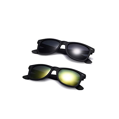 Sportbrillen, Angeln Golfbrille,Fashion Sunglasses Men Polarisiert Sunglasses Men Driving Mirrors Coating Points Black Frame Eyewear Male Sun Glasses UV400 C5-C2