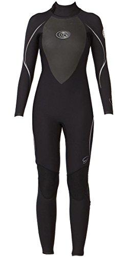 RIP CURL Womens G Bomb E3 5 / 3MM Neoprenanzug Black Silver - Easy Stretch Flash Lining - Der ultimative Wetsuit für Frauen